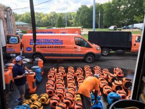 Gathering Equipment for Storm Damage Restoration