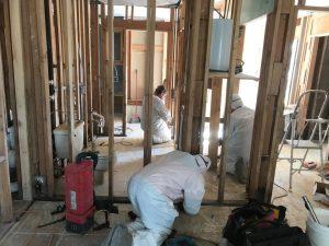 Technicians Restoring A Home After A Tornado Disaster
